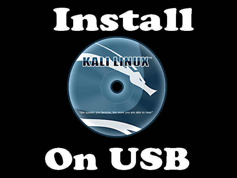 How To Install Kali Linux On USB [Dual Boot Kali & Windows]
